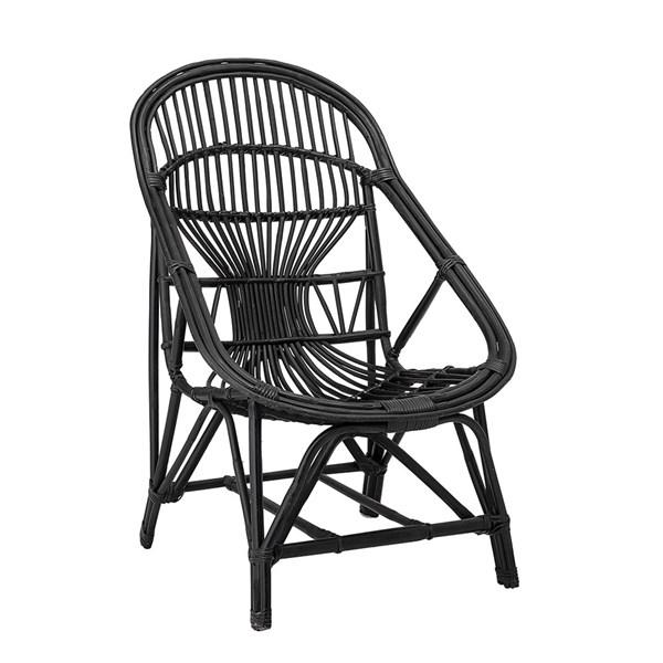 Bloomingville Handwoven Rattan Seat in Black