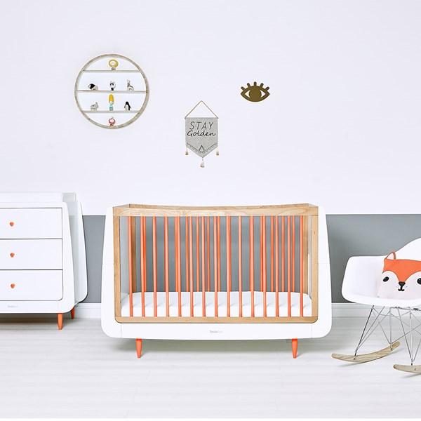 SnuzKot Skandi Cot Bed in Orange