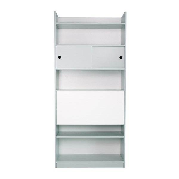 Childrens Tall Bookcase with Foldable Desk