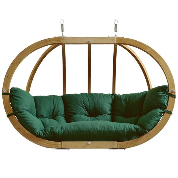 Globo Royal Hanging Chair in Weatherproof Green