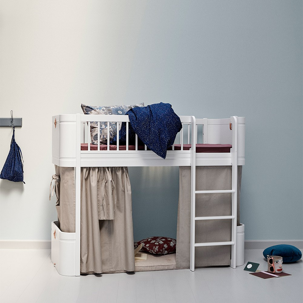 Oliver Furniture Wood Mini Kids Low Loft Bed In White Oliver