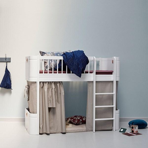 Wood Mini+ Kids Low Loft Bed in White