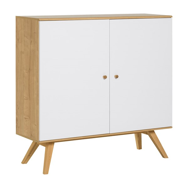 Nature Large Wooden Sideboard in White & Oak