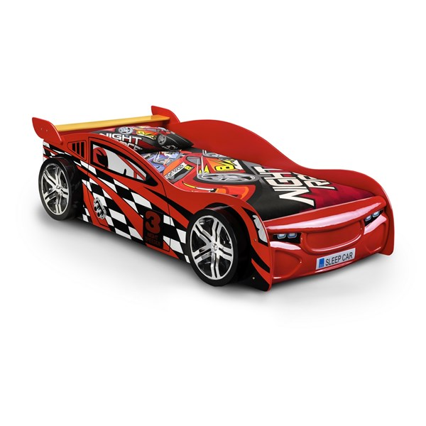 Red Racing Car Kids Bed