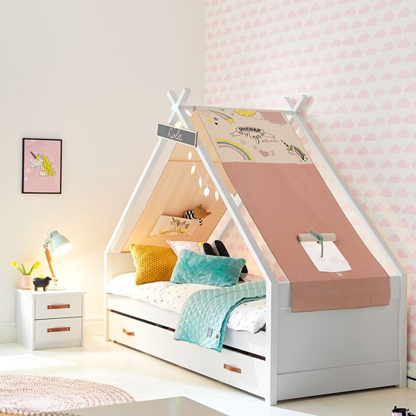 CoolKids Unicorn Tipi Bed