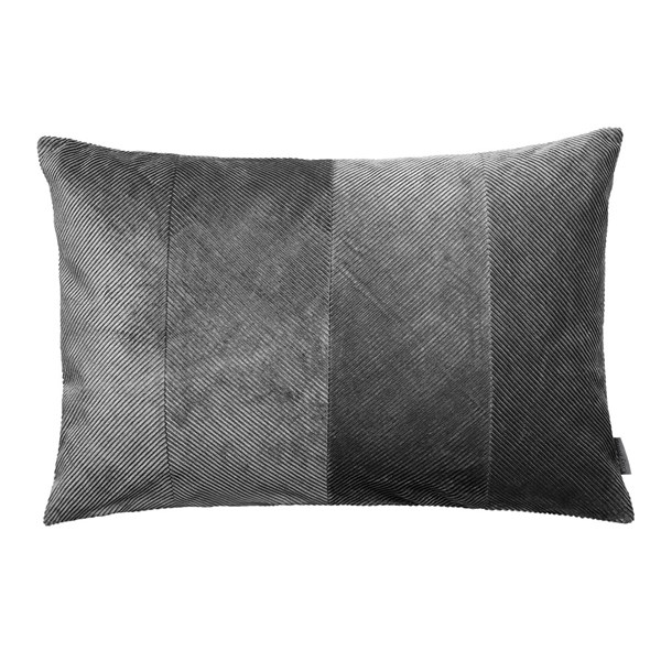Corduroy Herringbone Cushion in Steel