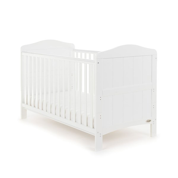 Obaby Whitby Cot Bed in White