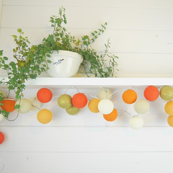 Cable and Cotton Tangerine Dream Cotton Ball Lights