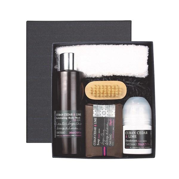 Bath House Cuban Cedar & Lime Men's Shower Gift Box