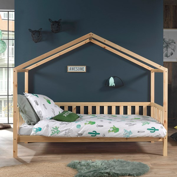 Solid Wood Day Bed with Natural Finish
