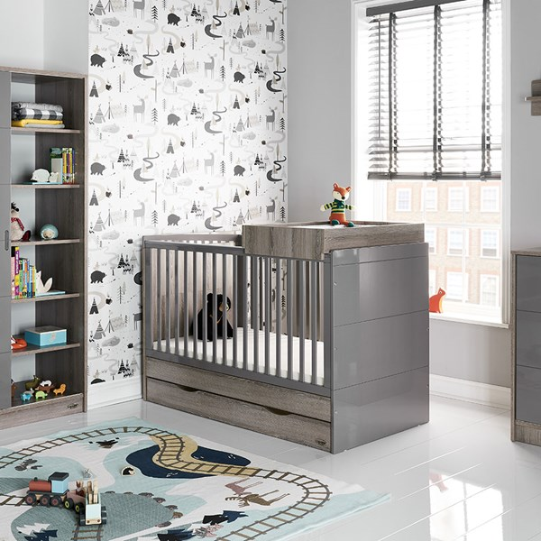Obaby Madrid Cot Bed in Eclipse