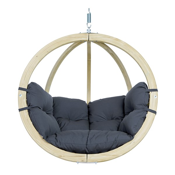 Globo Hanging Chair in Weatherproof Anthracite