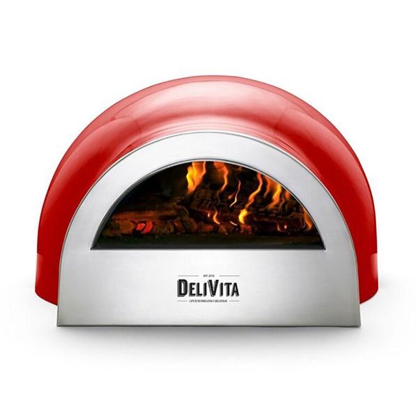 DeliVita Outdoor Pizza Oven in Chilli Red