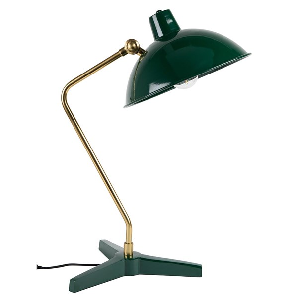 Vintage Desk Lamp in Gloss Green