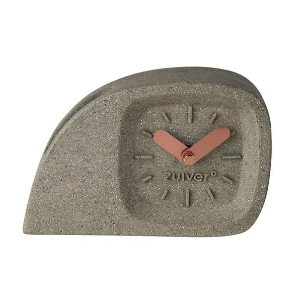 Zuiver Doblo Desk Clock in Concrete Finish