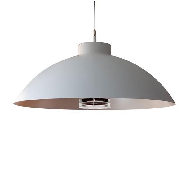 Heatsail Dome Patio Heater Pendant Light in White