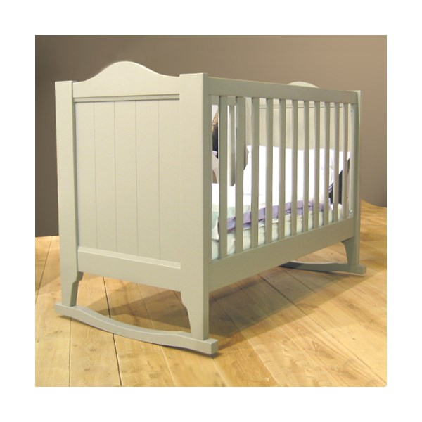 Baby Cot with Rockers in Dominique by Mathy By Bols