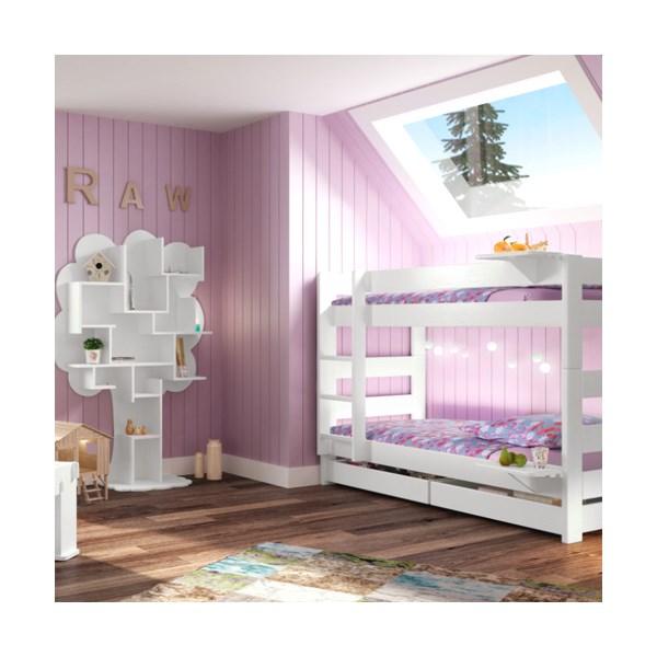 Kids 2 Tier Modern Bunk Bed in Dominique Design.