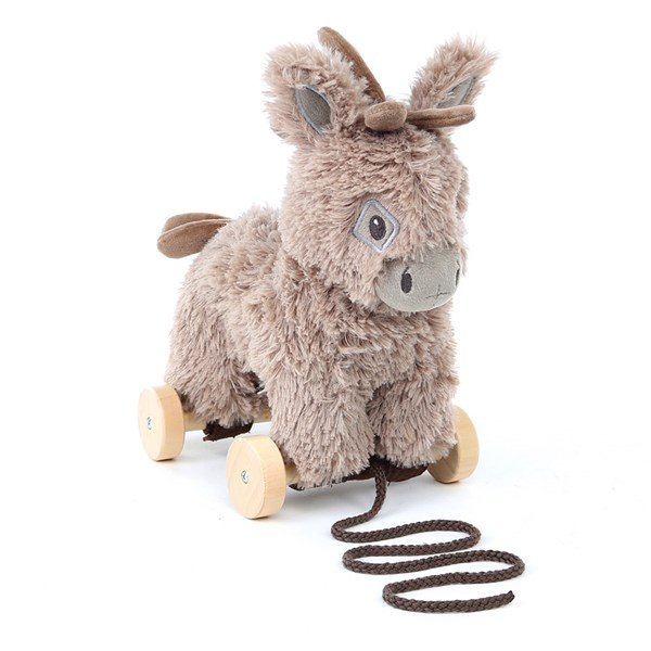 Little Bird Told Me Norbert Donkey Pull Along Kids Toy