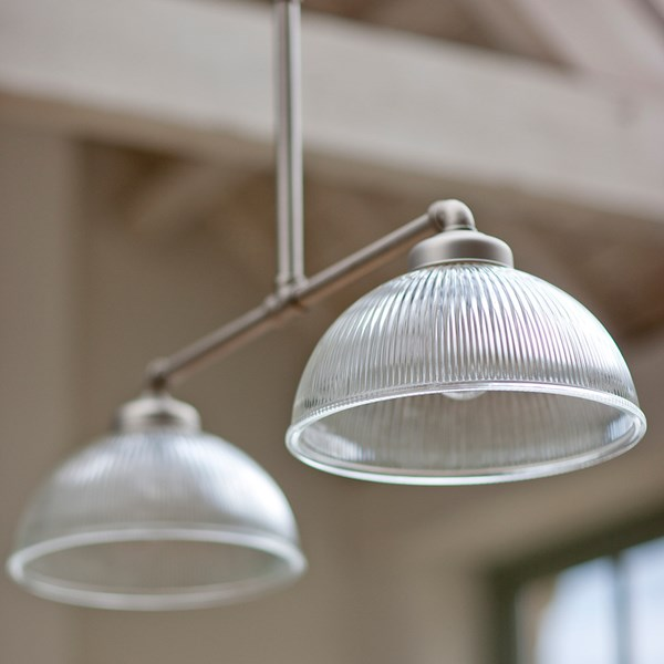 Glass Vintage Double Light Shade