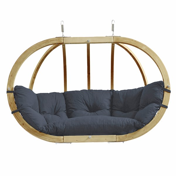 Globo Royal Hanging Chair in Weatherproof Anthracite