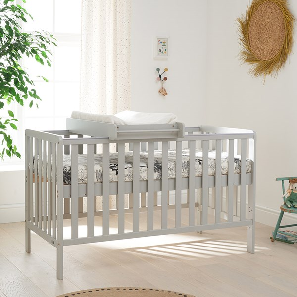 Tutti Bambini Malmo Cot Bed, Cot Top Changer and Mattress Bundle