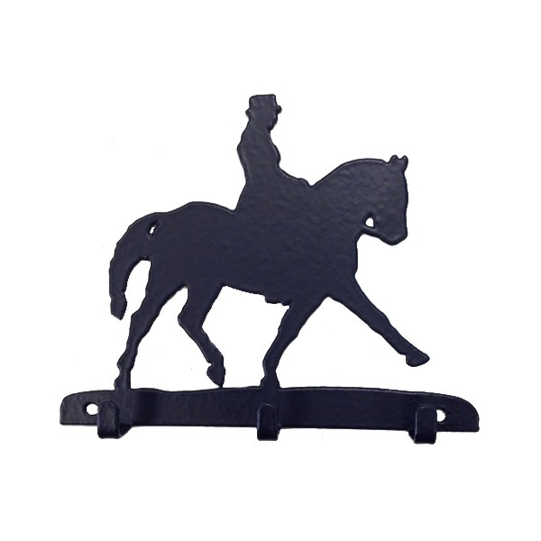 Key Rack with 3 Hooks in Dressage Horse Design