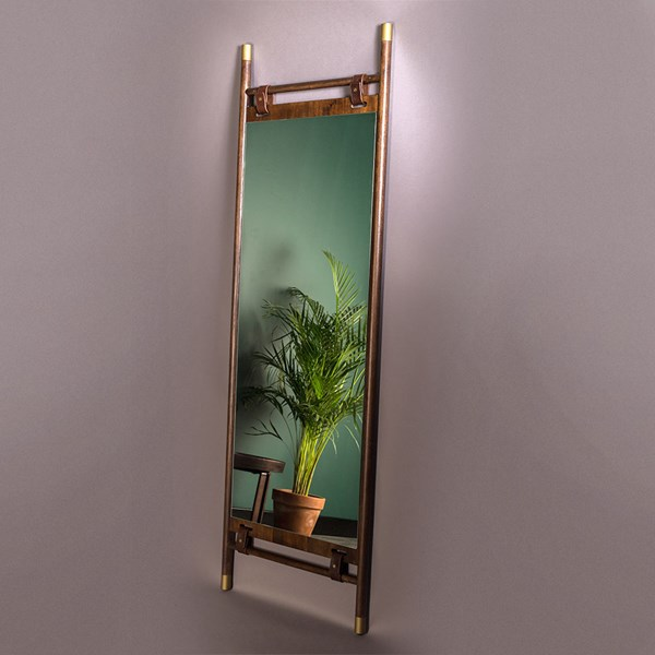 Stylish Wooden Mirror from Dutchbone