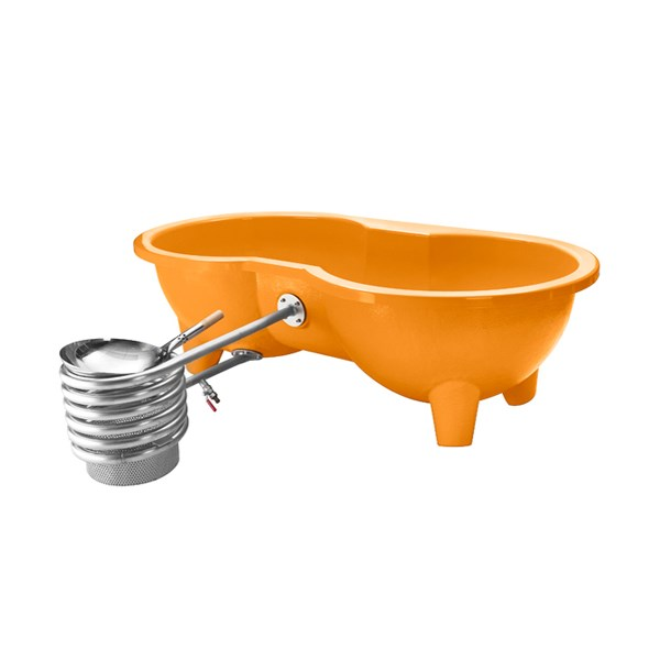 Dutchtub Love Seat Hot Tub in Orange - Outdoor Hot Tubs & Jacuzzis