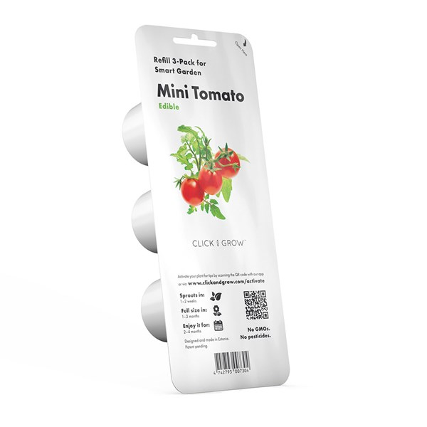 Click and Grow Pack of 3 Mini Tomato Smart Garden Plant Pods