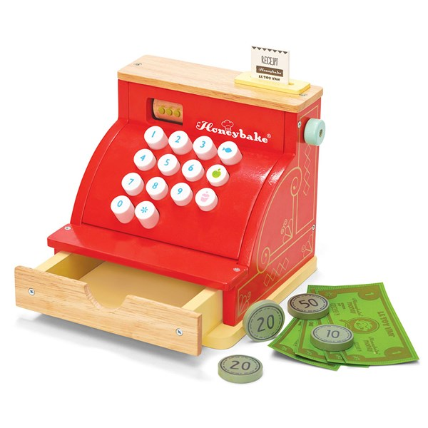 Le Toy Van Wooden Till with Soft Touch Buttons