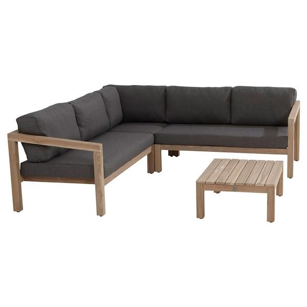 Garden Sofa Set in Teak and Grey from 4 Seasons Outdoor