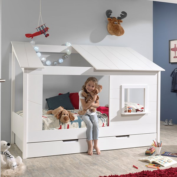Kids Single Bed with Under Bed Drawer