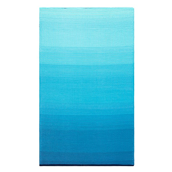 Fab Hab Big Sur Outdoor Rug in Teal