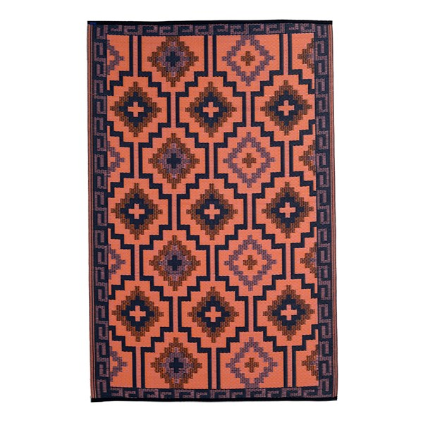 Fab Hab Lhasa Outdoor Rug in Coral