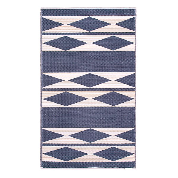 Fab Hab Cairo Outdoor Rug in Natural & Black