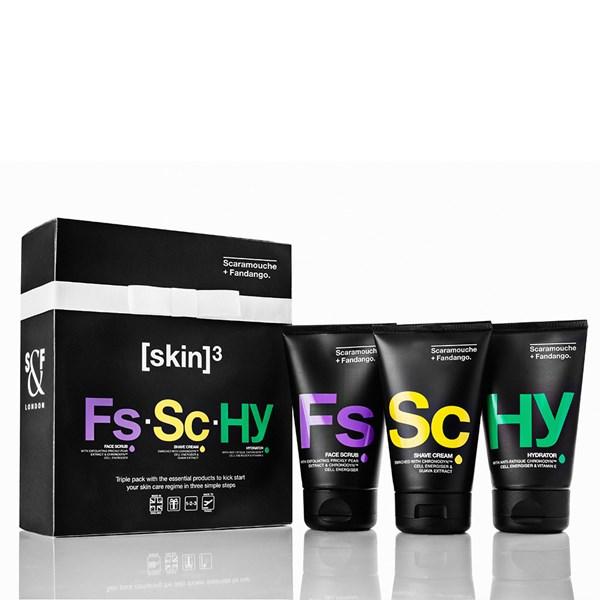 Scaramouche & Fandango Men's Grooming Triple Pack Gift Set