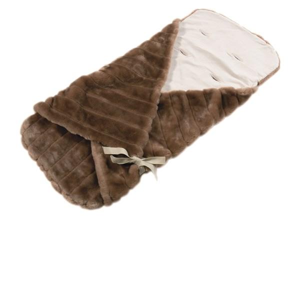 Pram Papoose in Honey Faux Fur Ultra Soft Luxury