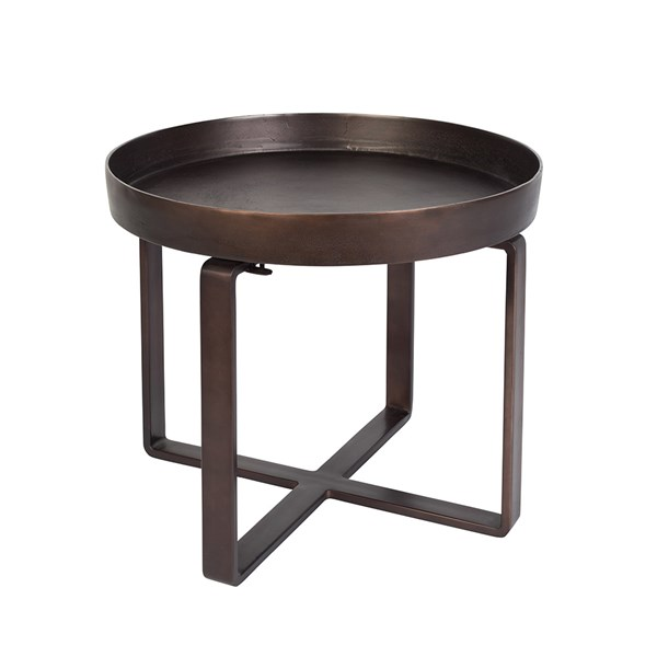 Dutchbone Ferro Side Table in Antique Bronze Finish