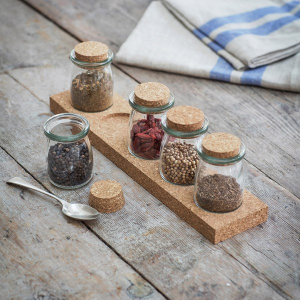Garden Trading Five Jar Cork Spice Rack