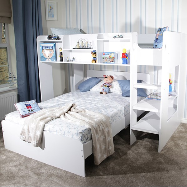 Wizard L Shaped Triple Sleeper Bunk Bed