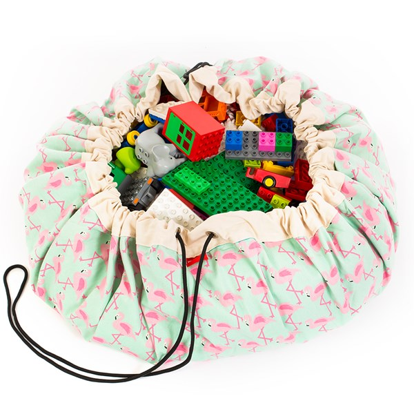 Play & Go Toy Storage Bag in Flamingo Design