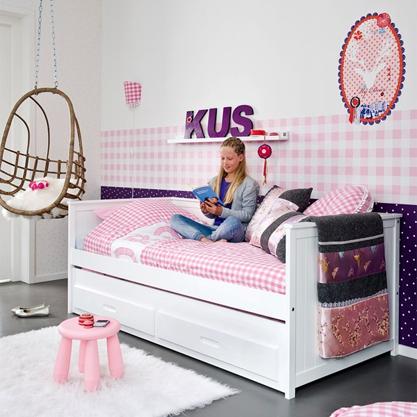 Kids Sofa Bed with Pull Out Drawer