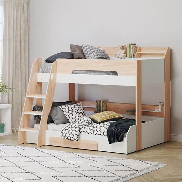 Flick Triple Bunk Bed in Oak by Flair Furnishings