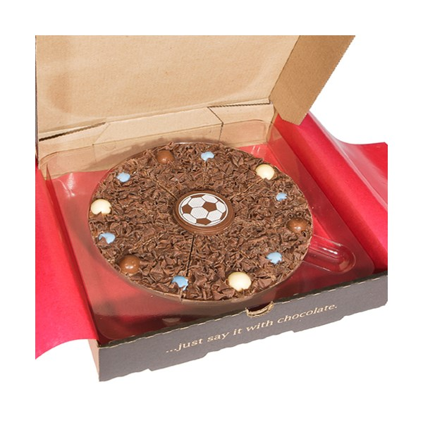 Chocolate Football Pizza by The Gourmet Chocolate Pizza Company