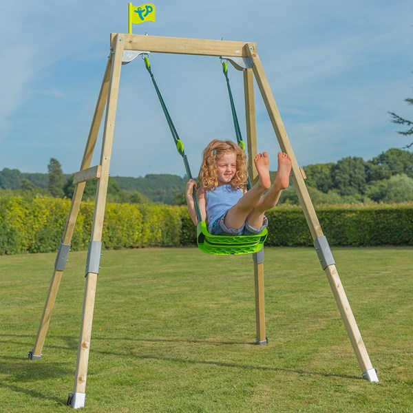 Forest Acorn Growable Swing Set with Quadpod Seat
