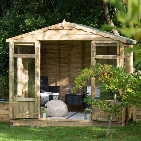 Forest Garden Oakley Overlap 8x6 Summer House