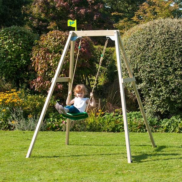 Forest Single Wooden Swing Set