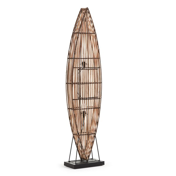Columbus Floor Natural Rattan Lamp
