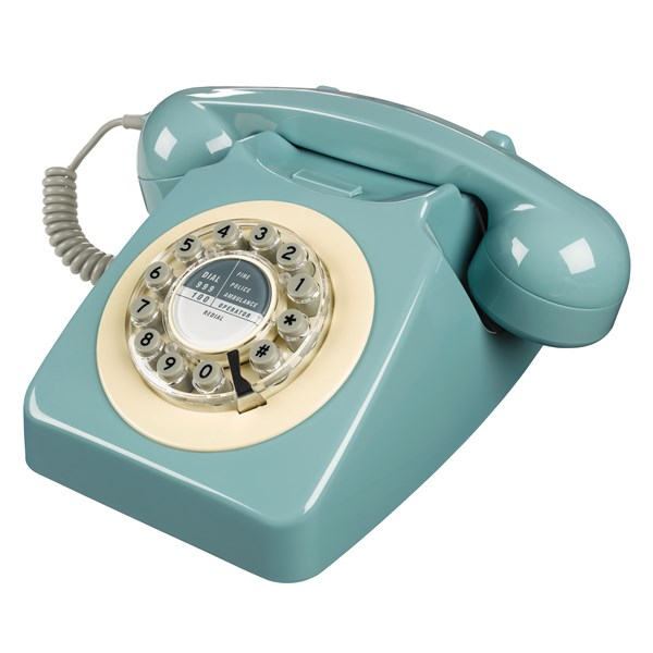 Retro Telephone in Blue